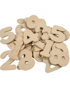 Number, H: 4 cm, thickness 2,5 mm, 30 pc/ 1 pack