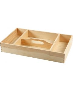 Wooden Tray, H: 7 cm, size 43x25 cm, 1 pc