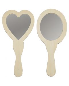 Hand Mirrors, size 23-24 cm, 2 pc/ 1 pack