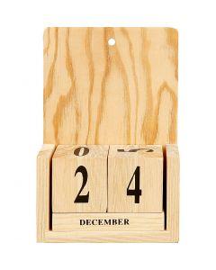 Calendar with Date Cubes, size 13x5,5x19,2 cm, 1 set
