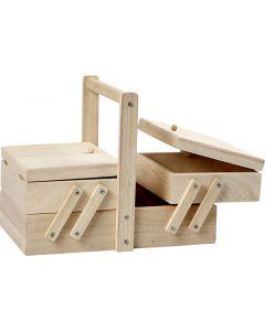 Sewing box, size 24x16,3x19 cm, 1 pc