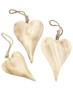 Heart, H: 9,5+15 cm, Content may vary , 6 pc/ 1 pack