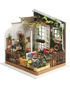 DIY Miniature Room, H: 21 cm, W: 19,5 cm, 1 pc