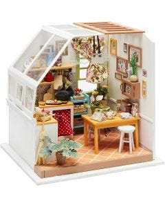 DIY Miniature Room, H: 18,7 cm, W: 19 cm, 1 pc