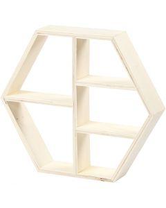Wood shelf, H: 25 cm, W: 28,5 cm, 1 pc