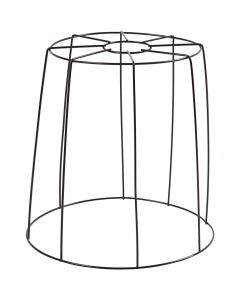 Lamp Shade, H: 20 cm, D: 15,5-20 cm, black, 1 pc