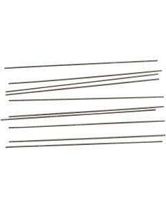 Metal Bar, L: 20 cm, D: 2 mm, 10 pc/ 1 pack