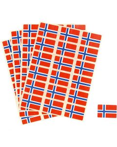 Flag Stickers, size 15x22 mm, 72 pc/ 1 pack