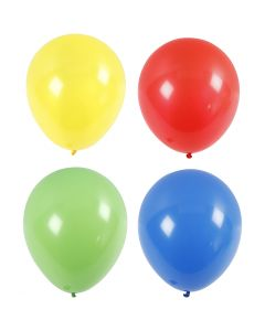 Balloons, Giant, 41 cm, Blue, Green, Red, Yellow, 4 pc, 1 Pack