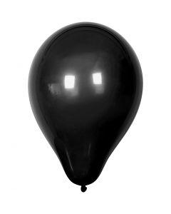 Balloons, 23 cm, Black, 10 pc, 1 Pack