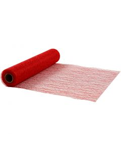Table Runner, W: 30 cm, red, 10 m/ 1 roll