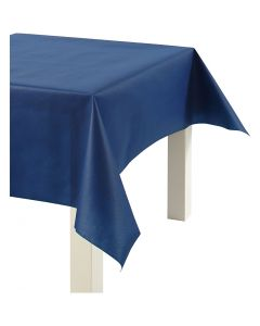 Imitation Fabric Table Cloth, W: 125 cm, 70 g, dark blue, 10 m/ 1 roll