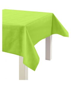 Imitation Fabric Table Cloth, W: 125 cm, 70 g, lime green, 10 m/ 1 roll