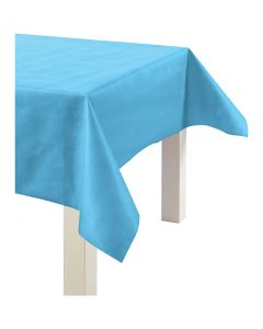 Imitation Fabric Table Cloth, W: 125 cm, 70 g, turquoise, 10 m/ 1 roll