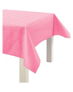 Imitation Fabric Table Cloth, W: 125 cm, 70 g, pink, 10 m/ 1 roll
