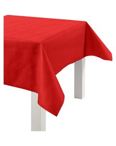 Imitation Fabric Table Cloth, W: 125 cm, 70 g, red, 10 m/ 1 roll