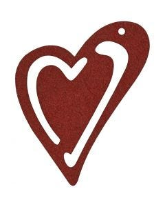 Heart, size 55x45 mm, claret, 10 pc/ 1 pack