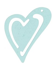 Heart, size 55x45 mm, turquoise, 10 pc/ 1 pack