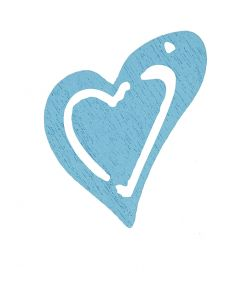 Heart, size 25x22 mm, light turquoise, 20 pc/ 1 pack