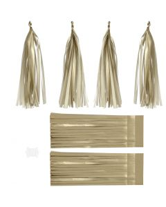 Paper Tassel, size 12x35 cm, 14 g, gold, 12 pc/ 1 pack