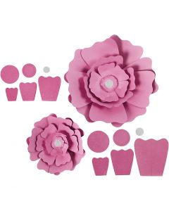 Paper Flowers, D: 15+25 cm, 230 g, light red, 2 pc/ 1 pack