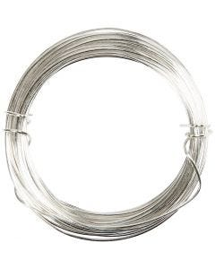 Silver-plated Wire, thickness 0,8 mm, silver-plated, 6 m/ 1 roll