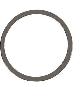 Jewellery Pendant, D: 30 mm, dark grey metallic, 2 pc/ 1 pack