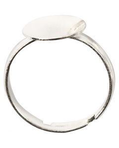 Finger Ring, silver-plated, 3 pc/ 1 pack