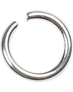 Jump Ring, size 7 mm, thickness 1 mm, silver-plated, 400 pc/ 1 pack