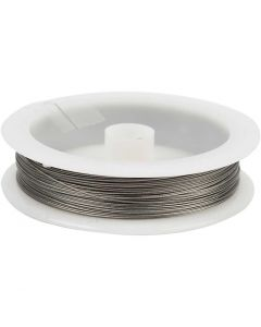Beading Wire, thickness 0,38 mm, silver, 30 m/ 1 roll