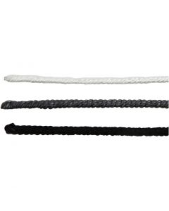 Wire with Nylon, L: 40 cm, thickness 1,5 mm, black, grey, white, 6 pc/ 1 pack