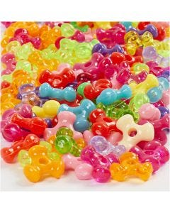Tri-Beads, D: 10 mm, hole size 2 mm, 125 ml/ 1 pack, 65 g