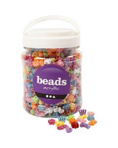 Novelty Shape Beads, D: 10 mm, assorted colours