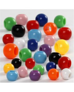 Pony Beads, size 6-10 mm, hole size 3-5 mm, 150 ml/ 1 pack, 85 g