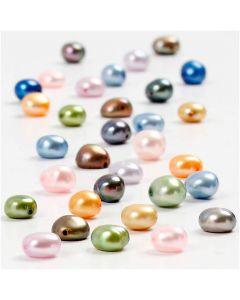 Freshwater Pearls, size 5-6 mm, hole size 0,5 mm, 40 cm/ 1 pack