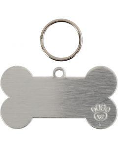 Pet tag kit, size 40 mm, 4 set/ 1 pack