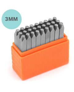 Embossing Stamps, Small letters, size 3 mm, Font: Helvetica , 27 pc/ 1 set