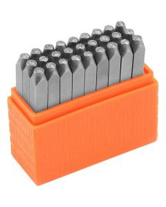 Embossing Stamps, Capital letters, size 3 mm, Font: Helvetica , 27 pc/ 1 set