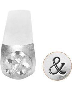 Embossing Stamp, &, L: 65 mm, size 6 mm, 1 pc