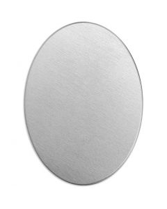 Metal Tag, Oval, size 25x18 mm, thickness 1,3 mm, aluminum, 15 pc/ 1 pack