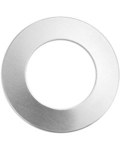 Metal Tag, Ring, D: 32 mm, hole size 19,32 mm, thickness 1,3 mm, aluminum, 9 pc/ 1 pack