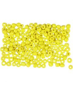 Rocaille Seed Beads, D: 3 mm, size 8/0 , hole size 0,6-1,0 mm, yellow, 500 g/ 1 pack
