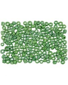 Rocaille Seed Beads, D: 3 mm, size 8/0 , hole size 0,6-1,0 mm, green, 500 g/ 1 pack