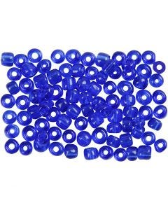 Rocaille Seed Beads, D: 4 mm, size 6/0 , hole size 0,9-1,2 mm, cobalt blue, 500 g/ 1 pack
