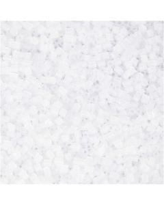 2-cut, D: 1,7 mm, size 15/0 , hole size 0,5 mm, white, 500 g/ 1 bag