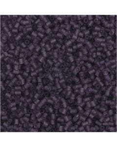 2-cut, D: 1,7 mm, size 15/0 , hole size 0,5 mm, frosted purple, 500 g/ 1 bag