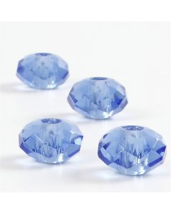 Glass Charm Beads, 4 pc/ 1 pack
