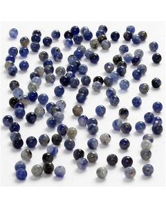 Genuine Stones, D: 3 mm, hole size 0,5-0,7 mm, blue, 120 pc/ 1 pack