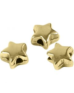 Spacer Bead, size 5,5x5,5 mm, hole size 1 mm, gold-plated, 3 pc/ 1 pack
