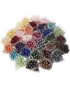 Luxury Wax Beads, hole size 1,5-2 mm, 32x20 g/ 1 pack
